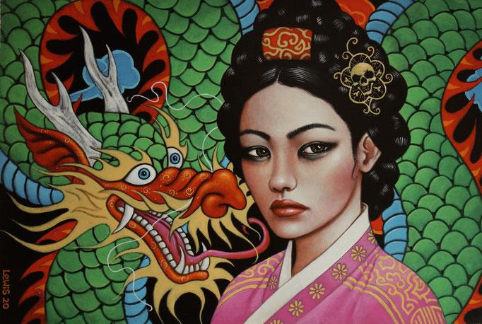 Dragon Queen Scott Lewis acrlic  20 x 30 x .25 in  $3600