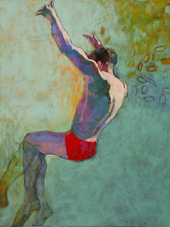 Icarus 1 by Christine De Staola  oil on canvas  40 x 30  $2500