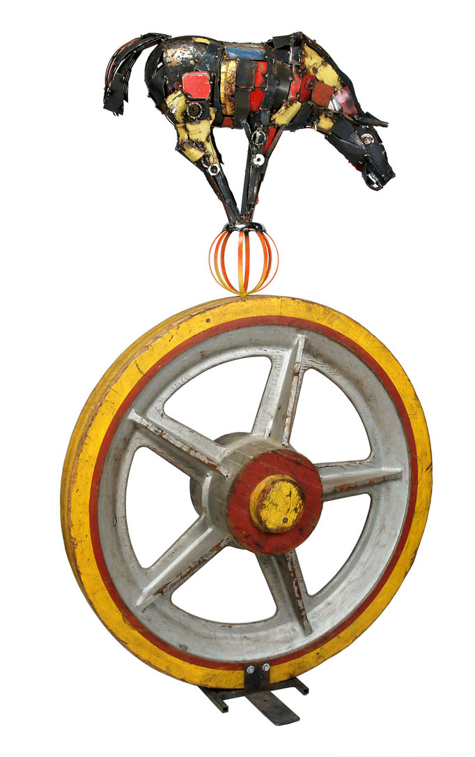 Circus Wheel, Mixed Media, $1650