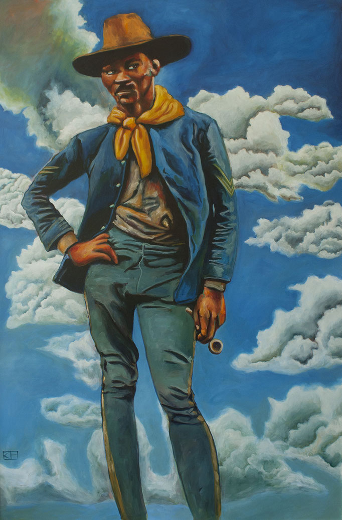 Albert Young by Kwanza Humphrey  oil on canvas 72 x 48   $5116.00
