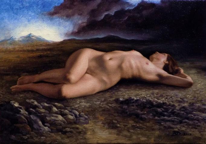 The Sleeper by Ryan Delgado, oil on canvas