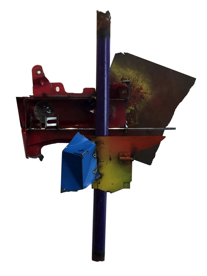 Purple Shaft & Glass, Mixed Media, $550
