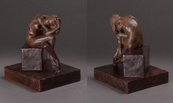 Pandora  by Erik Durant  8 x 7 x 6  bronze  $1750