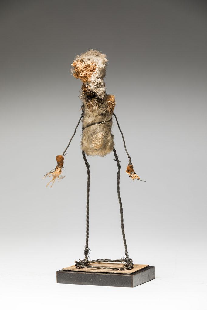 Found Figure by Ronald Gonzalez  found materials, wire  7 x 3 x 1  $800