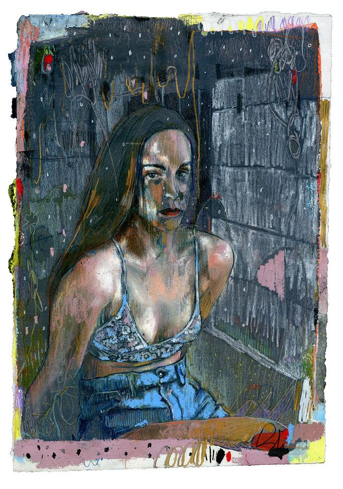 Shawna III by Brandi Hofer mixed media on paper 19 x 12  $684.00