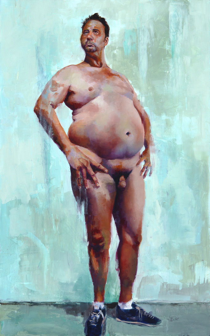 Judge  by Craig Cully  oil on panel 26 x 16.5 x 1.5 inches  $10,000