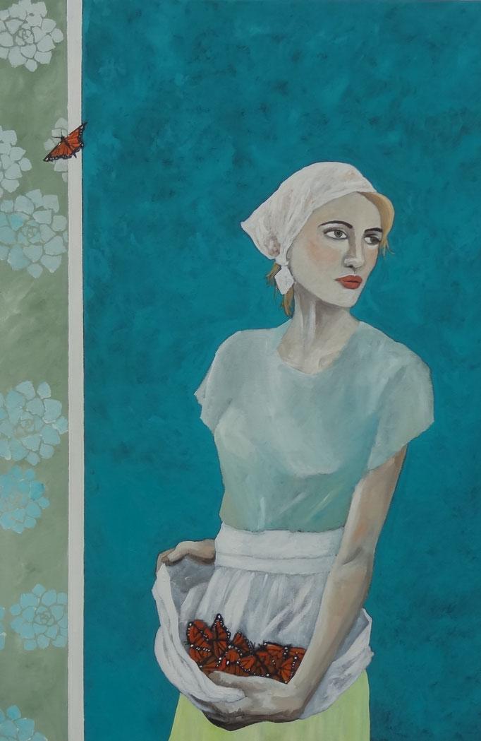 The Release  by Terri Jordan   oil  36 x 24   $1500