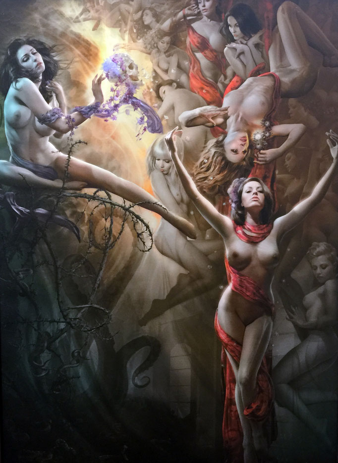 City of Angels an allegory of Los Angeles through time and flesh, mixed media  Jeff Wack