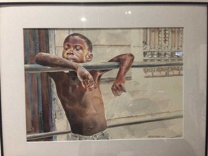 El Chico de La Hanan vieja  watercolor  Tony Armendariz