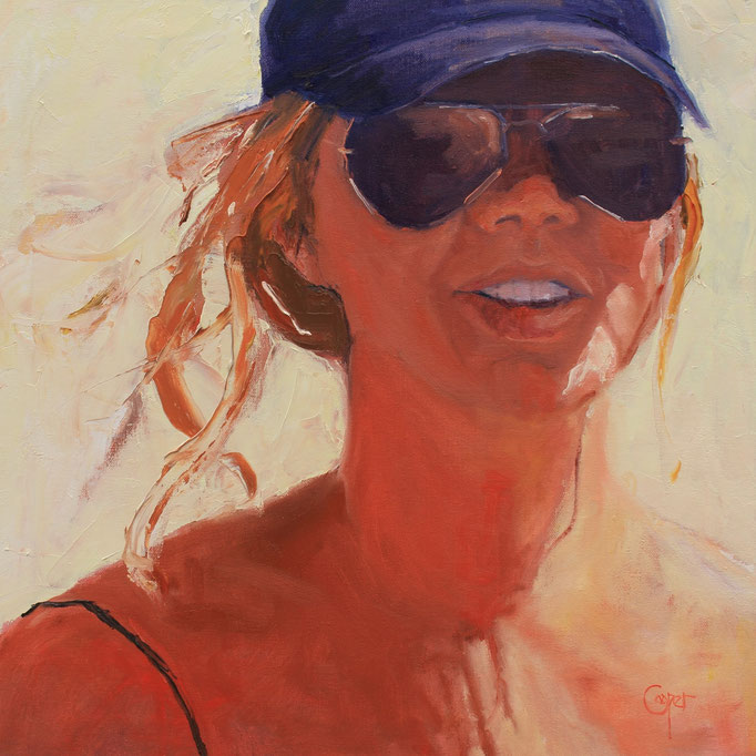 Caught up in the Sun by Karen Cooper oil on canvas  20 x 20  $800