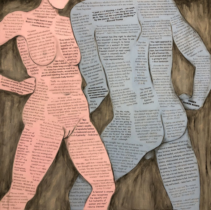 Resistanc and Indoctrination  mixed media  Susan Kiefer
