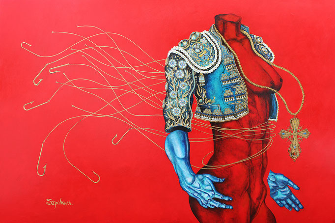 Llamado en Rojo acrylic on Canvas  Benjamin Sepulveda