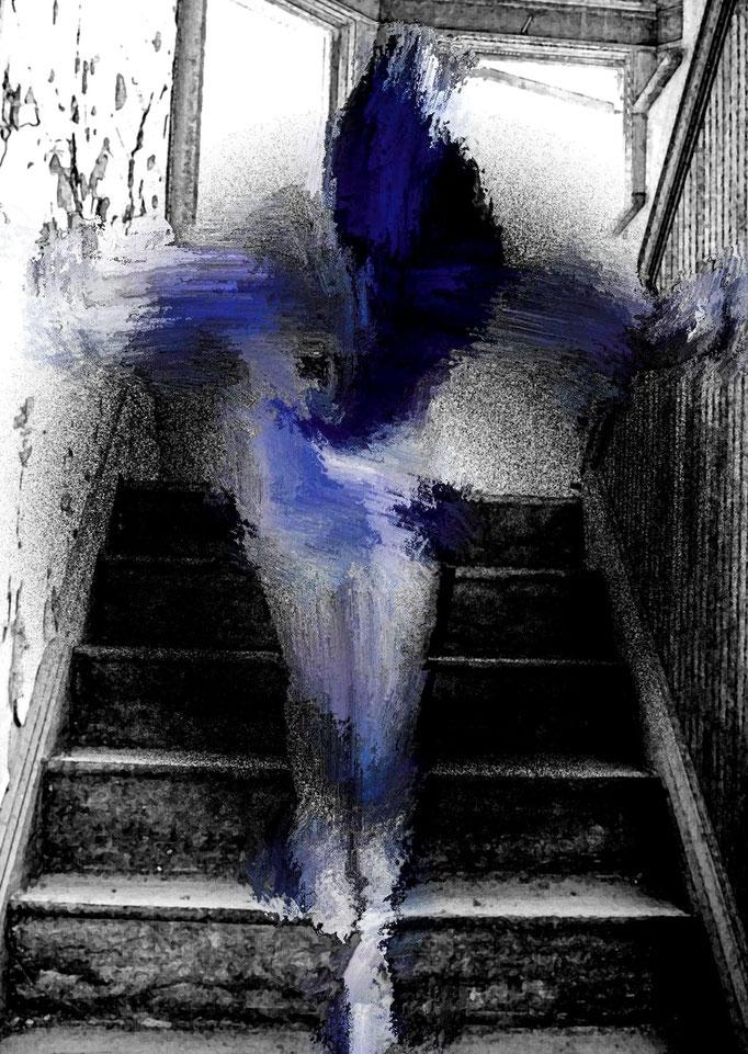 Blue Ascent  digital paint  Jeff Foster
