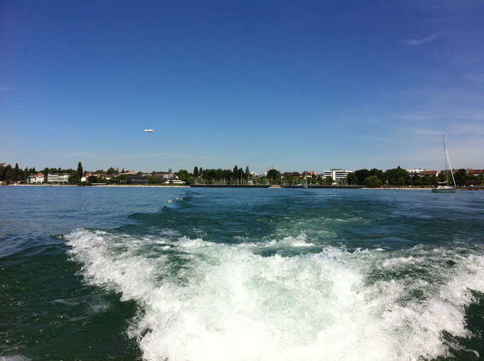 Fahrt vor Friedrichshafen