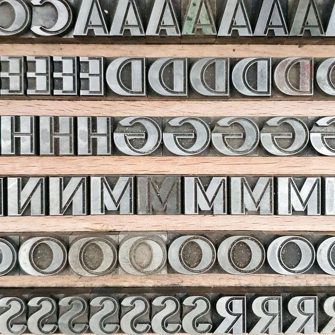 Bleilettern, Druckbuchstaben, Bleisatz