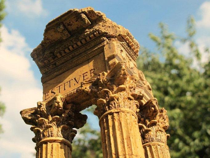 Tempel des Vespasian Korkmodell