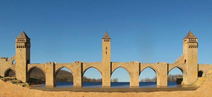 Pont Valentré Korkmodell 1:100