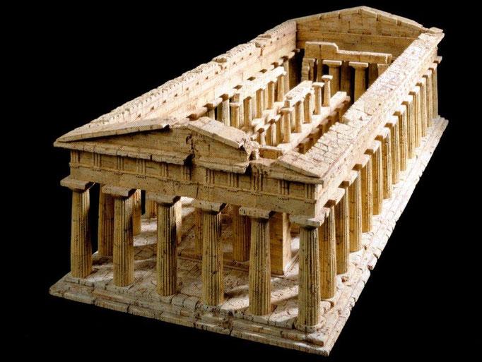 Poseidon-Tempel, Paestum Korkmodell 1:50