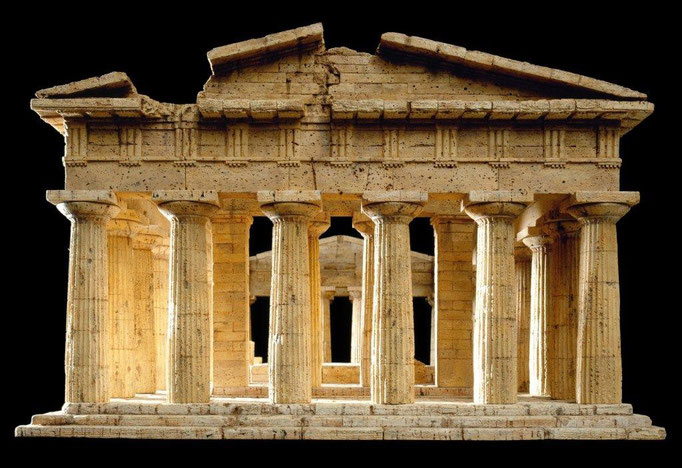 Tempel des Poseidon, Paestum Korkmodell 1:50