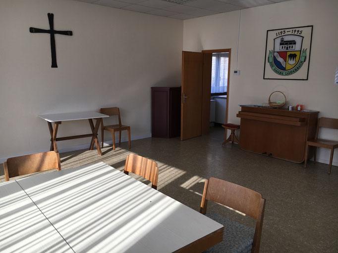 Lüderbacher Gemeindehaus Gemeinschaftsraum zugleich Ruheraum
