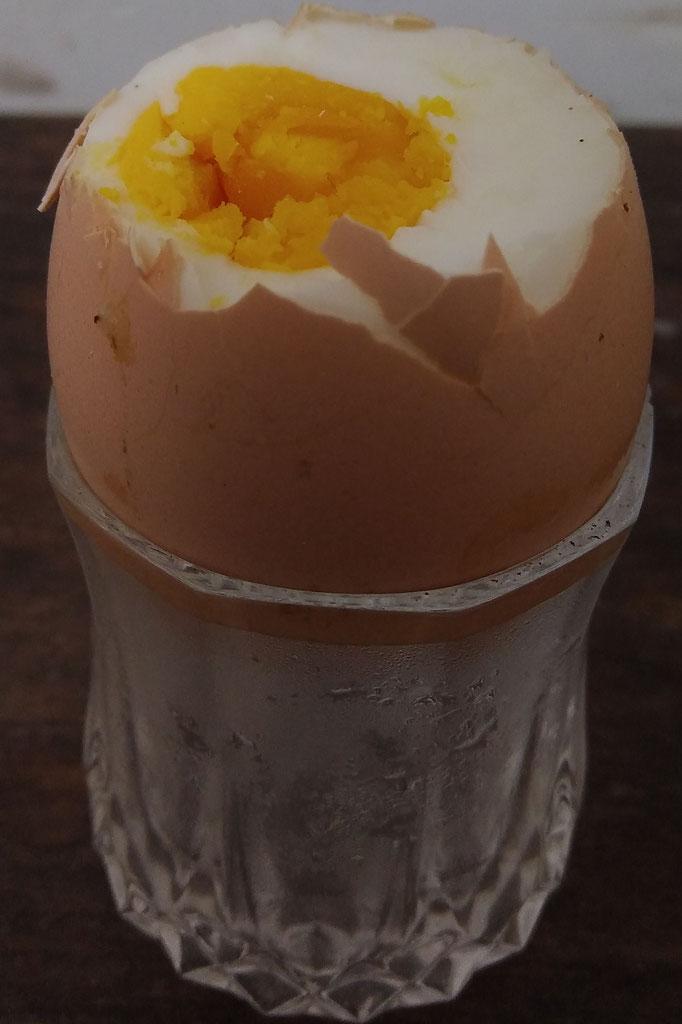 huevo directo de la gallina mmm... / Ei direkt vom Huhn mmmhhh...