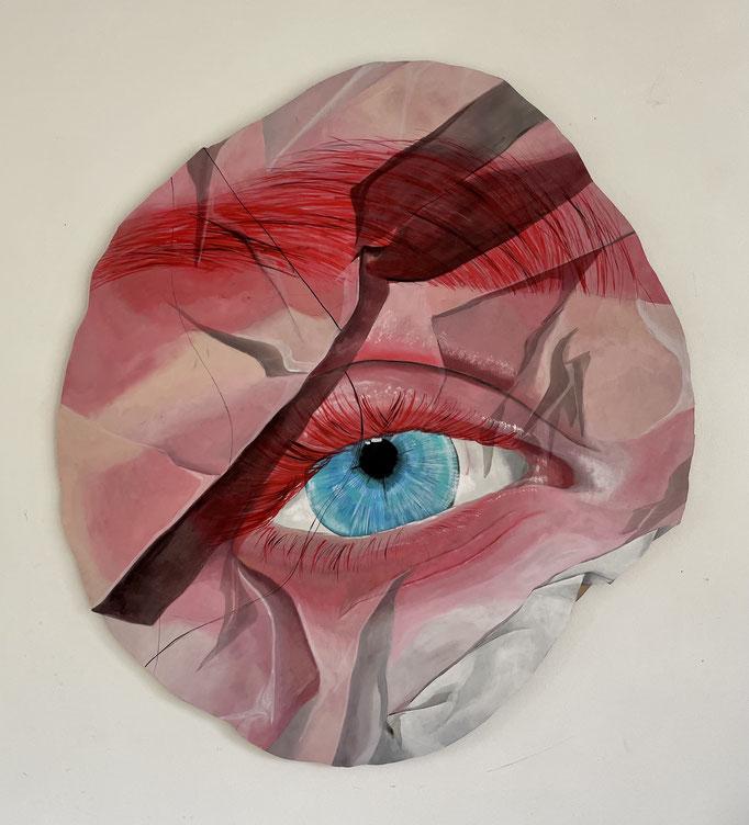 Rose Eye _ Acrylic on Wood - SOLD