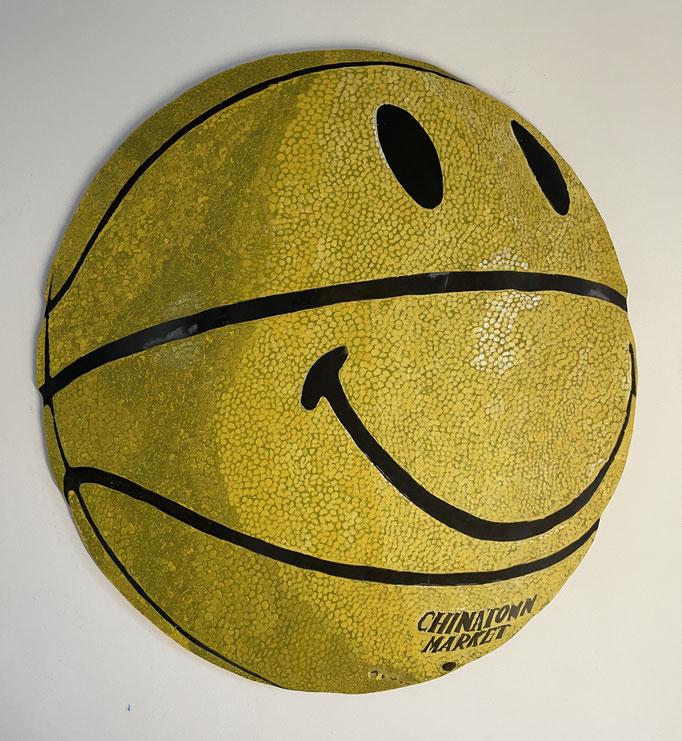 Chinatown Market Basketball - Acrylic on Wood -  Geometric Study