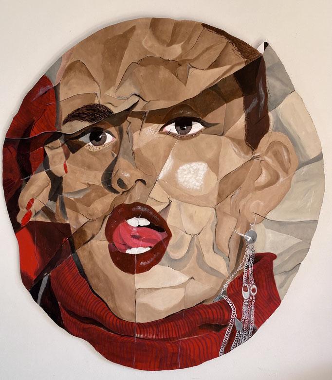 Tongue Twist - Acrylic on Wood -