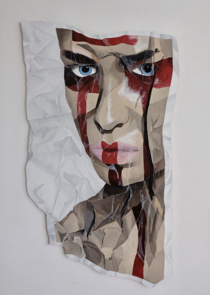 Redline 1 - Acrylic on Wood - SOLD