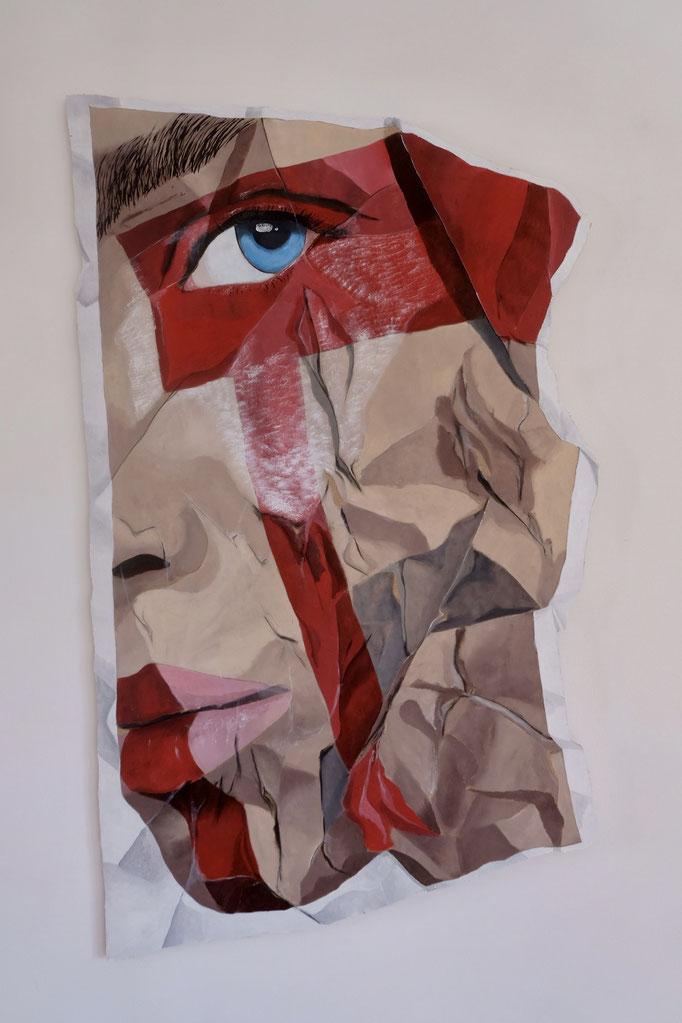 Redline 2 - Acrylic on Wood - SOLD