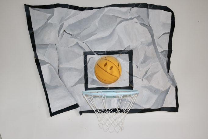 Basketball - Acrylic on Wood/Iron - SOLD