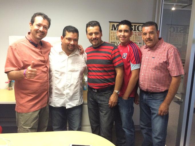 Con los amigos de Los Rodarte