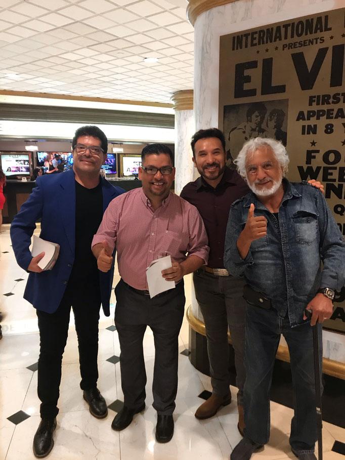 Con Pepe Magaña, Luis Manuel Avila y Rafael Inclán
