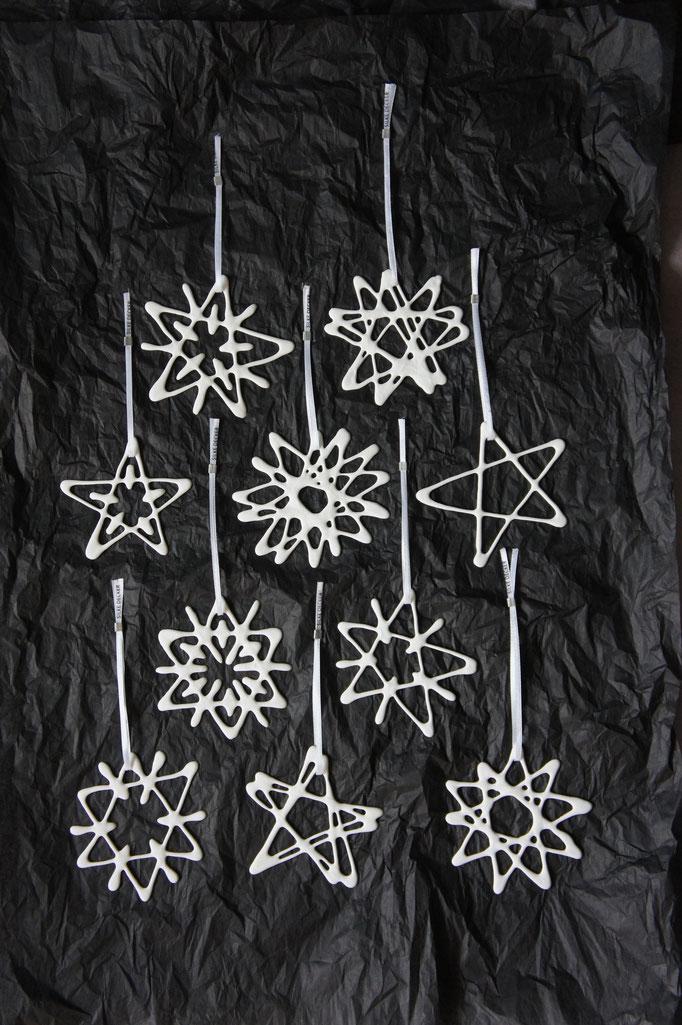 Porzellansterne zu Weihnachten als Mitarbeitergeschenk oder Kundengeschenk