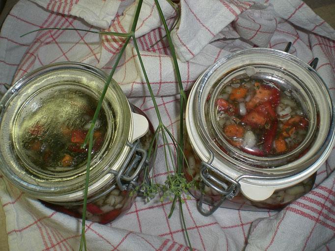 Gemüsemix - nach Saison sowie Chillis aus dem eigenen Garten (ungespritzt)