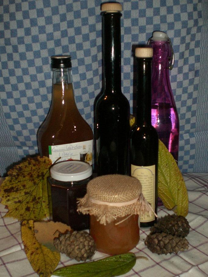 Marmeladen, Fruchtsäfte - selbstgemacht ohne Zusatzstoffe und Konservierungsmittel