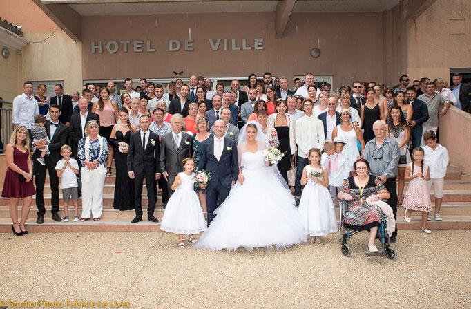 Cérémonie de mariage a la Crau pres de Toulon.