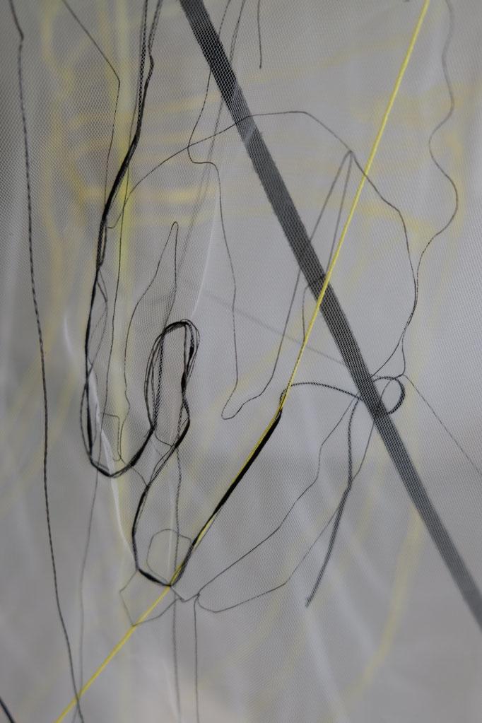 Detailansicht: Garn, Netz