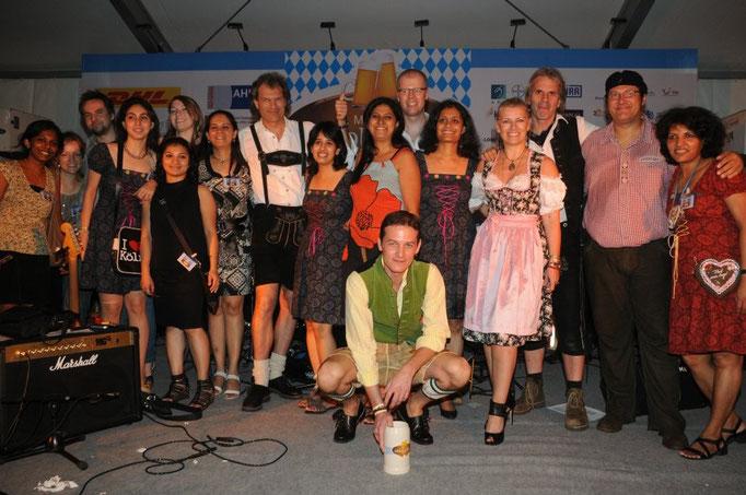 Bayrische Band in Mumbai (Bombay)