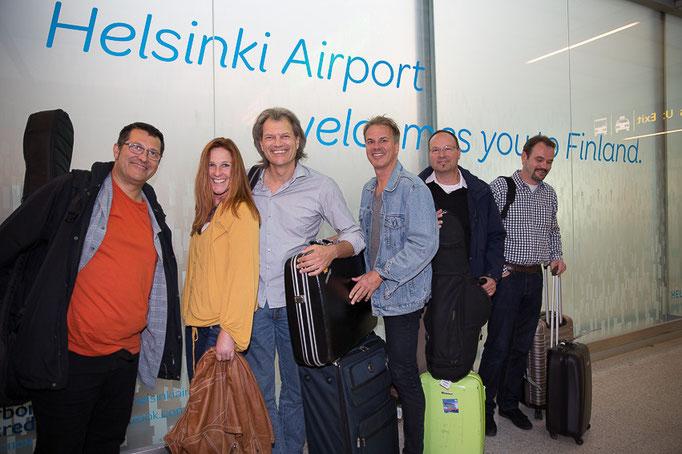 "Oktoberfestband ""Die Oberbayern"" Helsinki Airport"