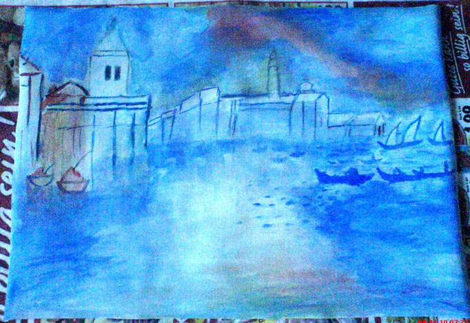 Venedig in Blau 30 x 40 cm