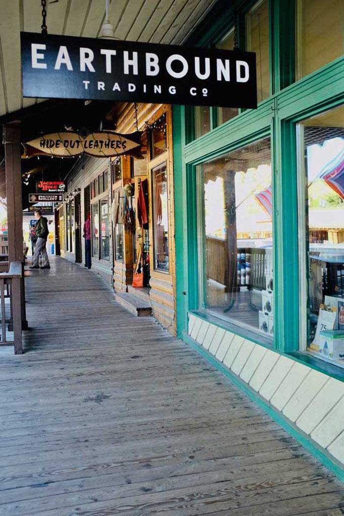Shops in einer Westernkulisse, Jackson Wyoming