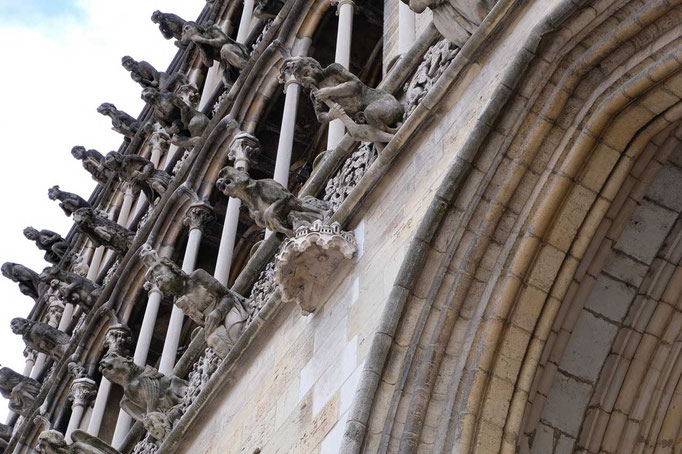 Falsche Wasserspeier Notre Dame von Dijon