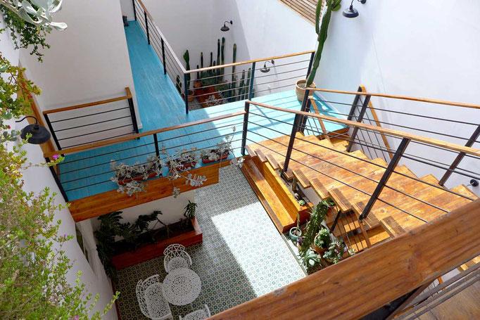PAMPA Hotel Innenhof Iquique