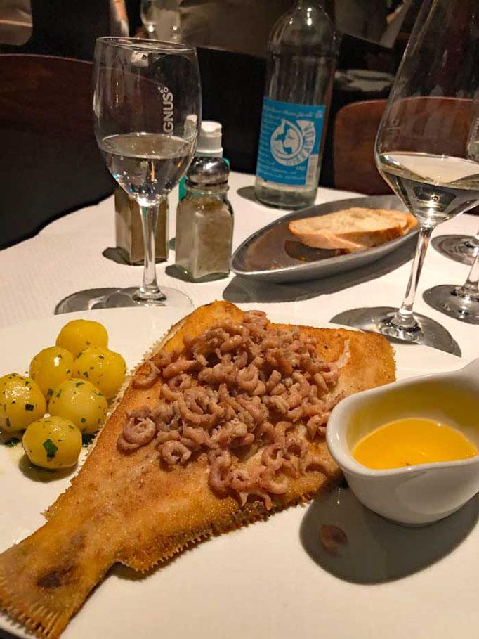 Sylt Restaurant Manne Pahl Scholle mit Krabben