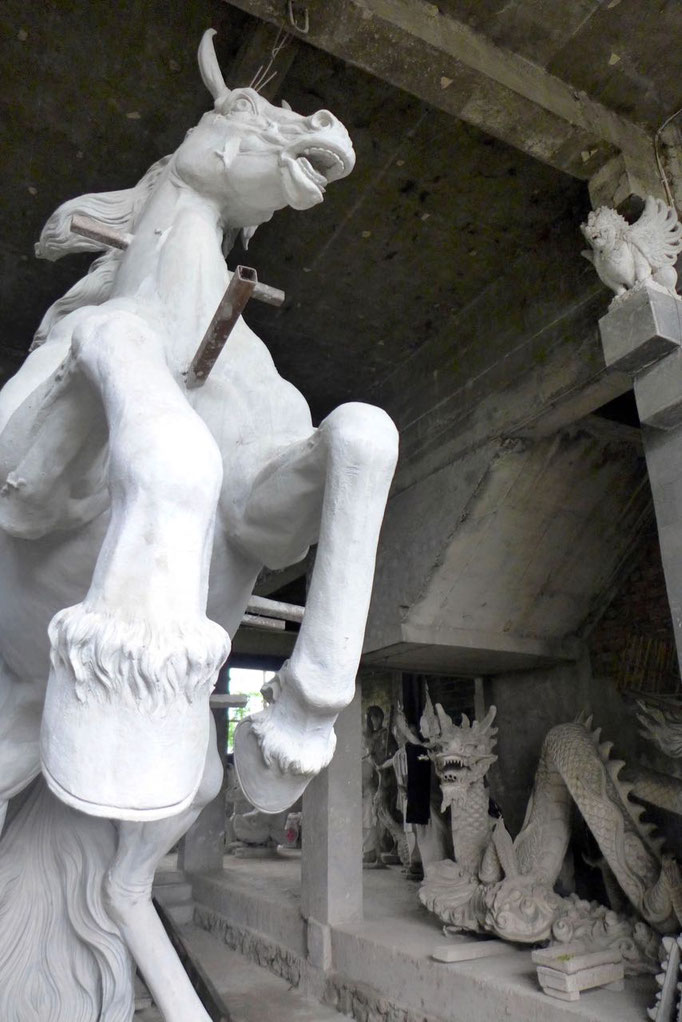 Skulpturenwerkstatt bei Ubud