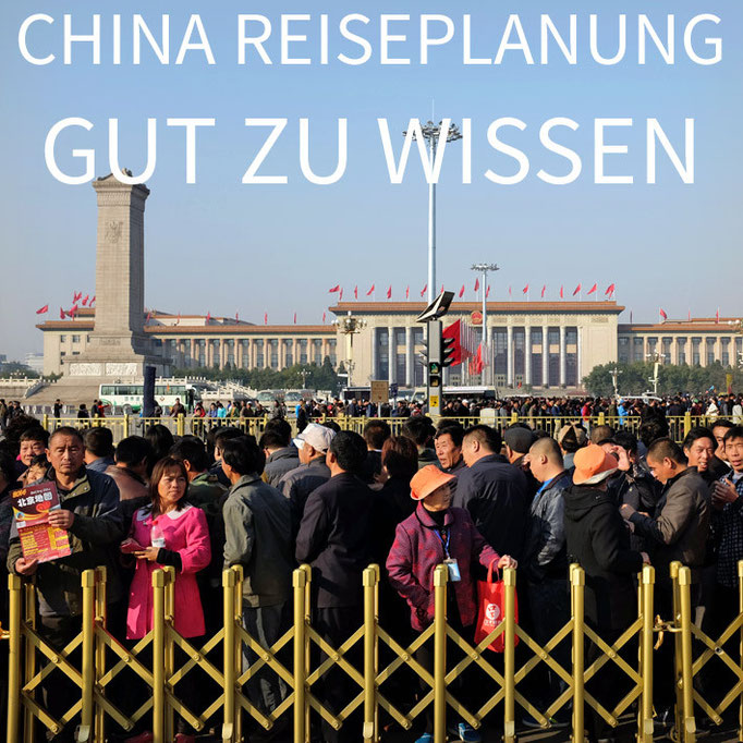 China Reisevorbereitung