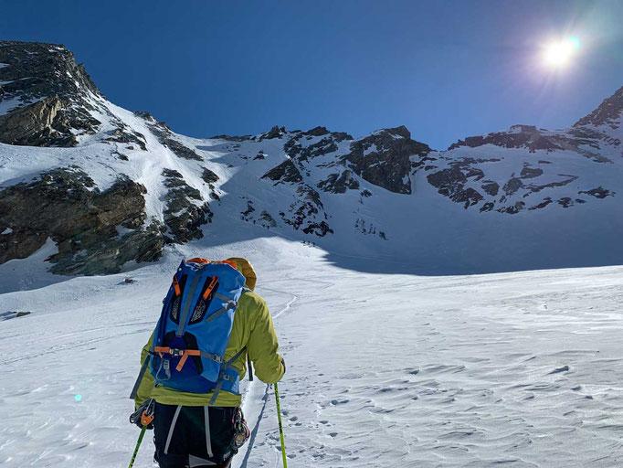 Auf dem Weg zum Col du Mont Brulé