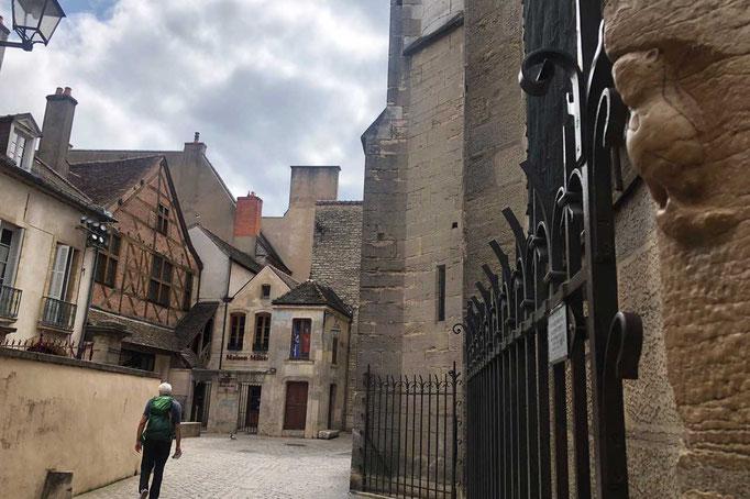 Notre Dame von Dijon mit Eule