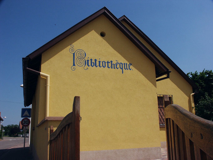 Fresque murale - Bibliothèque, village de Bourgheim - Copyright Pascale richert